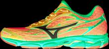 Mizuno Wave Catalyst W joggingsko Blå/Röd, överpronation, 230 gram