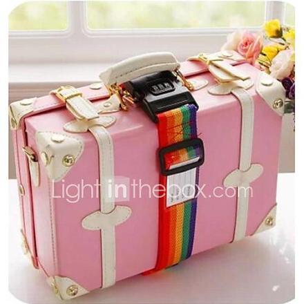 rainbow kolme koodia tekstiili matkalaukku side