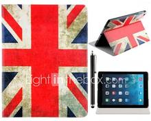 Union Jack Pattern PU Leather Full Body Case telineellä ja Stylus Touch Pen iPad Air