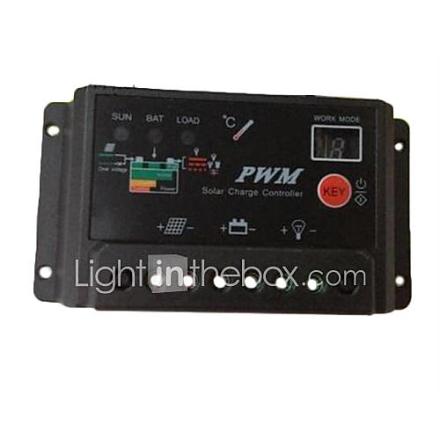 30A PWM Solar Panel Battery Säädin verovelvollisuutta digitaalinen ohjain 12V 24V
