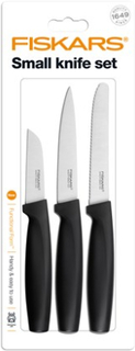 Fiskars Functional Form Litet knivset med 3 knivar, svart Fiskars