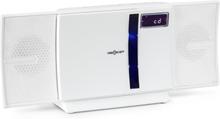 V-16-BT stereoanläggning Bluetooth CD USB MP3 FM väggmontering vit