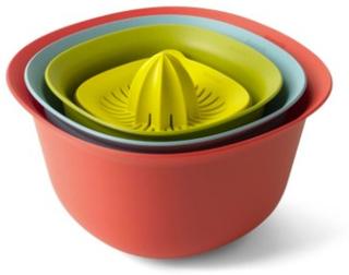 Brabantia Sett med 4 (Målekopp/Juicepress, 1,5 Ltr, dørslag, 3,2 Ltr) Mix farger
