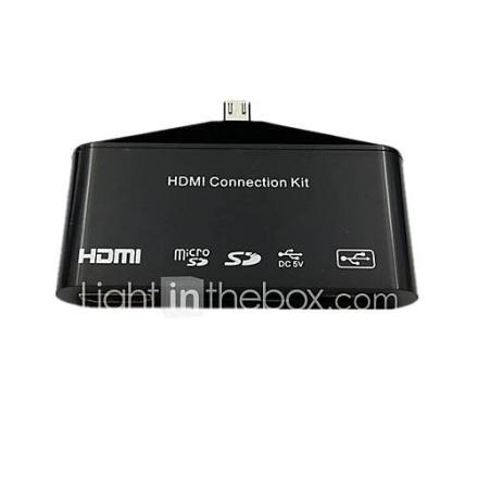 Micro-11P USB-liitin MHL-HDMI OTG kortinlukija Samsung Galaxy S3/S4/Note2 / 3