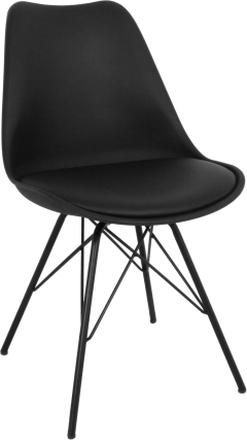 Comfort spisebordsstole sort (Stærkt begrænset lager)