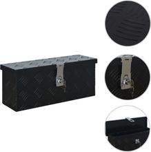 vidaXL Aluminiumlåda 485x140x200 mm svart