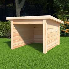 vidaXL Garage för gräsklippare 92x104x59,5 cm massiv furu 19 mm