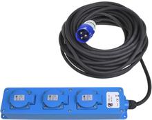 ProPlus 3-vägs strömuttag schuko 20 m 2 USB