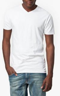 Selected Homme Slhpima Ss V-Neck Tee B Noos T-skjorter og singleter Hvit