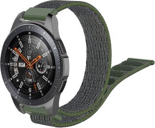 Samsung Galaxy Watch (46mm) 22mm nylon watch band - Grå / Army Grønn