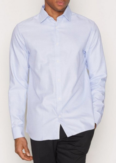 Selected Homme Shdtwotim-Luca Shirt Ls Noos Skjortor Ljus Blå