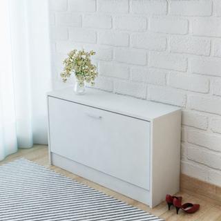 vidaXL skoopbevaringsmøbel hvid 80x24x45 cm