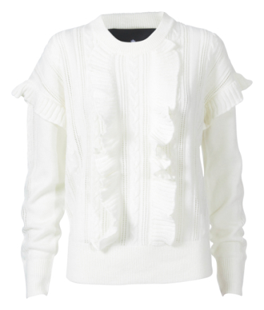 Designers Remix Mallory Ruffle Cream Sweater-M