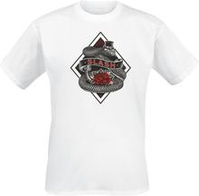 Slash - Rose Snake -T-skjorte - hvit
