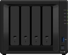 Synology DS918+ DiskStation, 4-bay, Intel Celeron quad-core 2,3 GHz CPU, 4GB RAM: