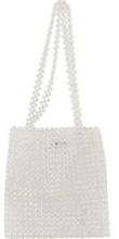 PIECES Perlen Schultertasche Damen White