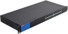 LGS124P - switch - 24 portar - ohanterad