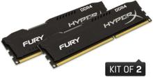 HyperX Fury DDR4-2400 BK C15 DC - 8GB