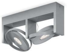 PARTICON bar/tube aluminium 2x4.5W SELV Spot Skinner