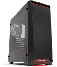 Eclipse P400S Tempered Glass - SE Black/Red - Chassi - Miditower - Svart