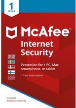 Internet Security - licensabonnemet (1 år) - 1 enhed - Nordisk Elektronisk