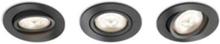 Shellbark Recessed Grey 3x4.5W