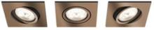 Shellbark Recessed Copper 3x4.5W