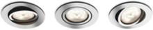 Shellbark Recessed Chrome 3x4.5W