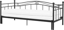Jatkettava sänky 90/180 x 200 cm musta TULLE