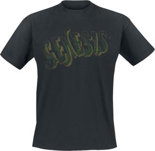 Genesis - Vintage Green Logo - T-shirt - svart