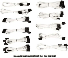 Premium Individually Sleeved PSU Cable Kit Pro Package Type 4 (Generation 3) - White