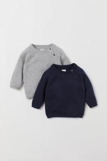 H & M - 2-pack finstrikkede gensere - Blå