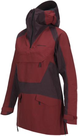 Women's Volcan Ski Anorak Tummanpunainen XS
