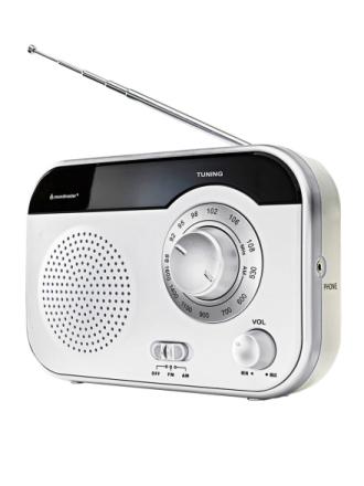 Bærbar radio Soundmaster hvit