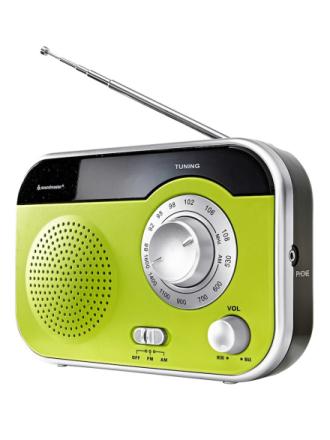 Bærbar radio Soundmaster grønn/svart