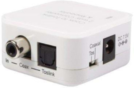 Two Way Digital Coax to Toslink Audio Converter Repeater