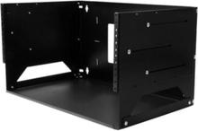 Wall-Mount Server Rack with Built-in Shelf - Solid Steel - 4U