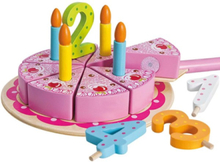 Wooden birthday cake 18dlg