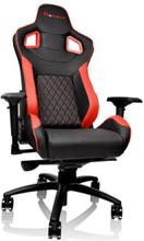Ttesports GT-Fit 100 Krzes?o gamingowe - Czarno-czerwony - Skóra PU - Do 120 kg