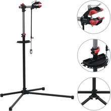 vidaXL Reparationsstativ för cykel 104x68x(110-190) cm stål svart