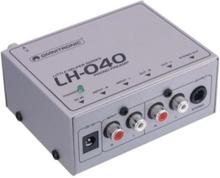 Omnitronic LH-040 - telefonförförstärkar Skivspelare - Silver