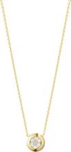 Georg Jensen Aurora Halsband 18 K Gult Guld Med 0,10 Ct Diamant