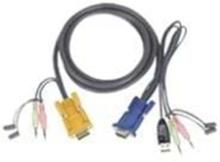 USB KVM-kabel 1,8 meter