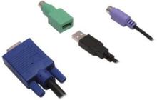 SV1000 PS2 och USB KVM-kabelsats