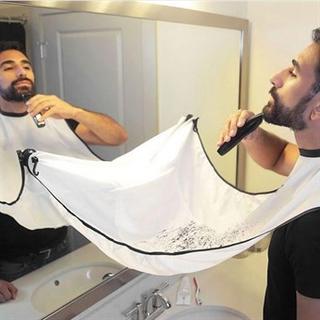 Trimmer / rakning förkläde med sugkoppar till spegeln