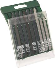 10-delers sagbladkassett, tre/metall/plast (T-tange)
