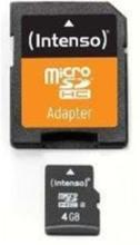 Micro SD Card w / Adapter - 4GB