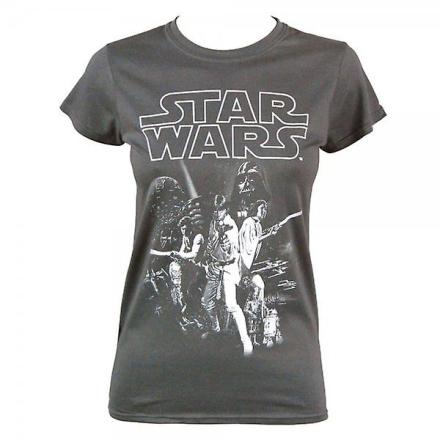 Star Wars dame Star Wars en New Hope plakat Crew Neck T Shirt - Fruugo