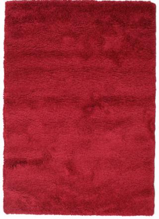 Shaggy Sadeh - Röd matta 140x200 Modern Matta
