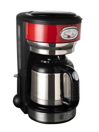 Kaffetrakter i retrostil Russell Hobbs rød